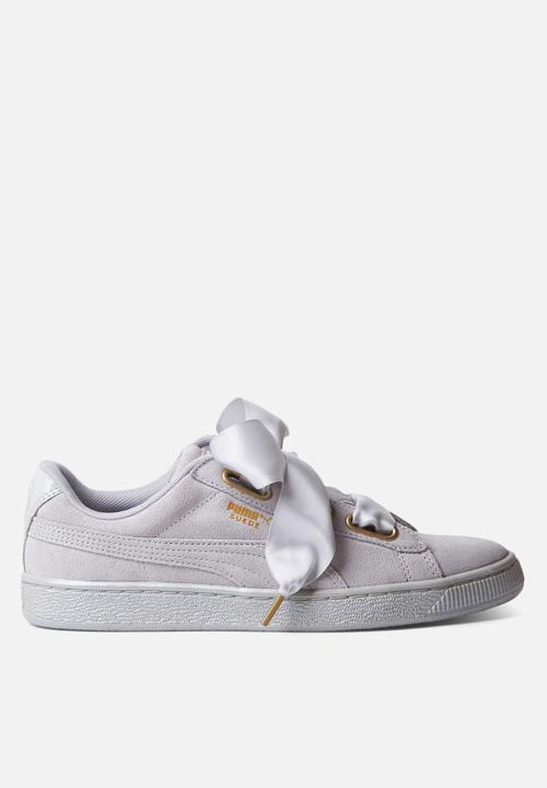 puma suede heart satin sneaker