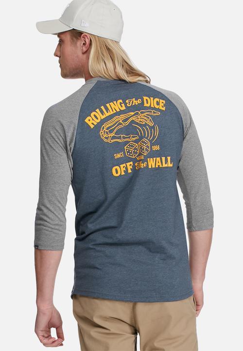 8d88748675 Roll em raglan - heather navy heather grey Vans T-Shirts   Vests ...