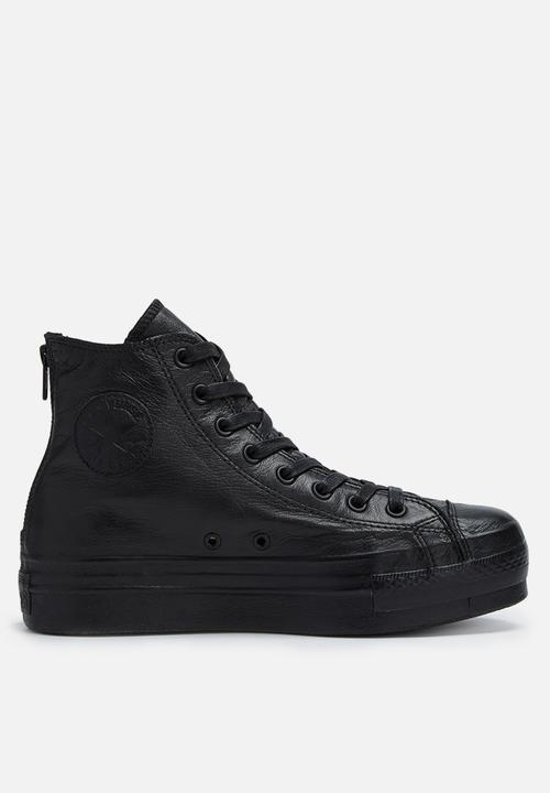 5f9142ca78a1 Ctas plat leath shroud hi l 549570C - black Converse Sneakers ...