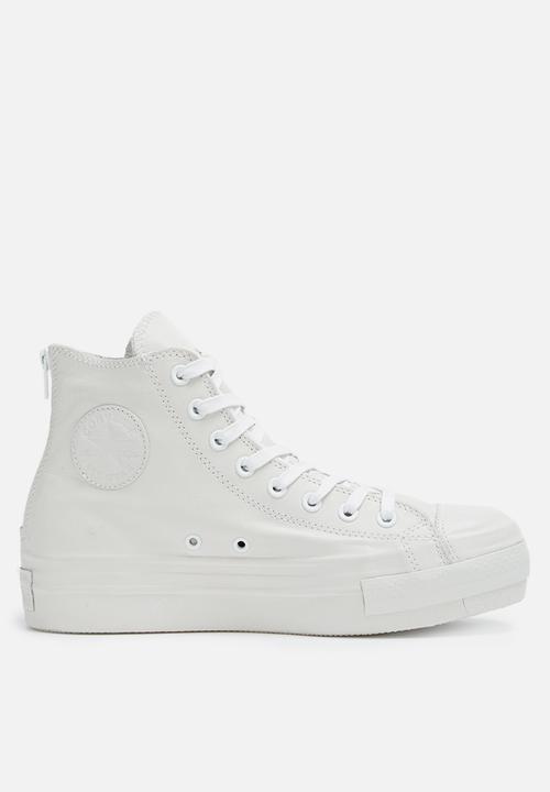 641ba219dd0b Ctas plat leath shroud hi l 549571C - white Converse Sneakers ...