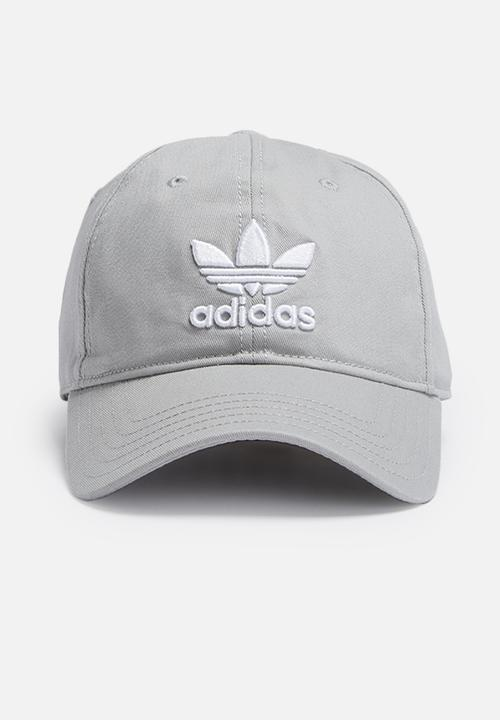 Trefoil classic cap-medium grey heather adidas Originals Headwear ... 20be4cf6195