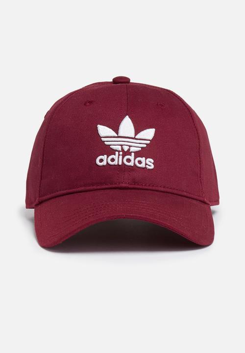 Trefoil cap osfw - collegiate burgundy adidas Originals Headwear ... 72e16b91d21
