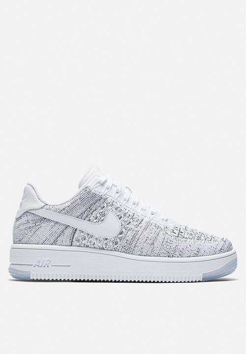 28b5318c445c98 Nike Air Force 1 Flyknit Low 820256-103-White White-Black Nike ...