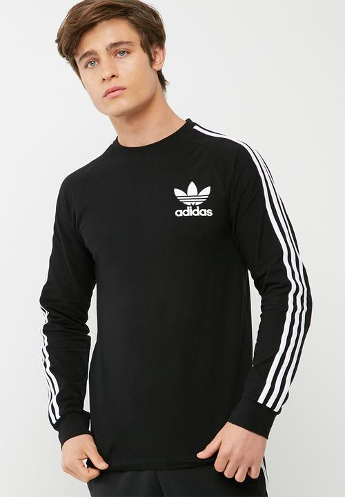 0b738ec6 Mens clfn ls pique tee-black/white adidas Originals T-Shirts ...