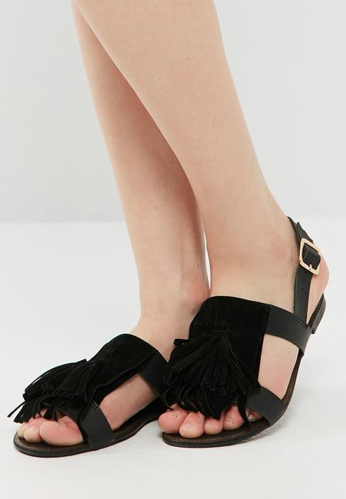 ca756d134 Tassel and fringe sandal - HB80494 - black dailyfriday Sandals ...