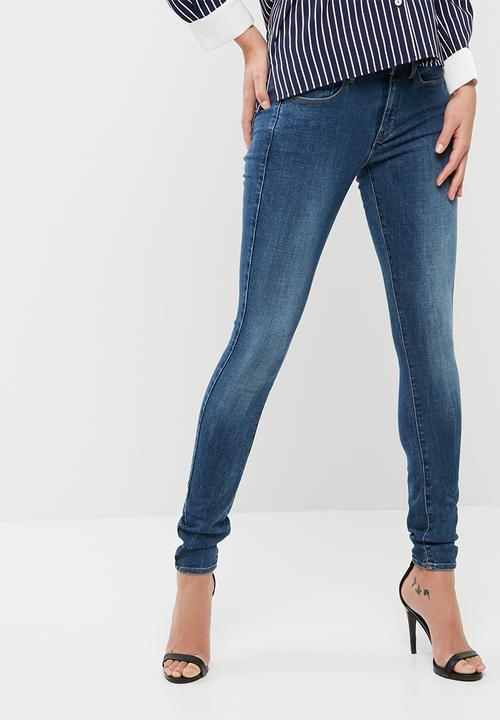 G-Star Womens 3301 Super Skinny Jeans - Blue - W26/ L32 G-Star XCG4v25g