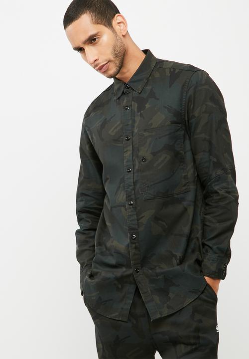 ac82a324cdf Stalt Long Denim shirt l s Lt wt diamond denim NDC AO -asfalt black ...