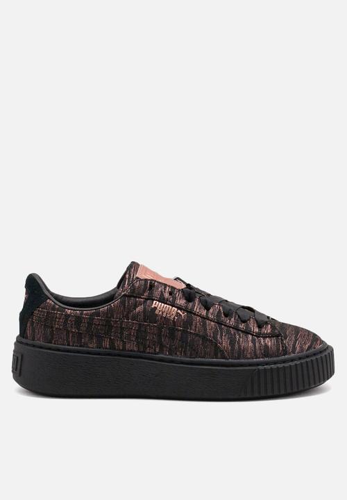 cdb8f62df PUMA Basket Platform VR Wmn s - 364092 02 - Black PUMA Sneakers ...