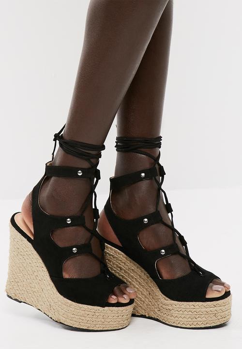 9a250f4faa9 Sarina wedge sandal - black Vero Moda Heels