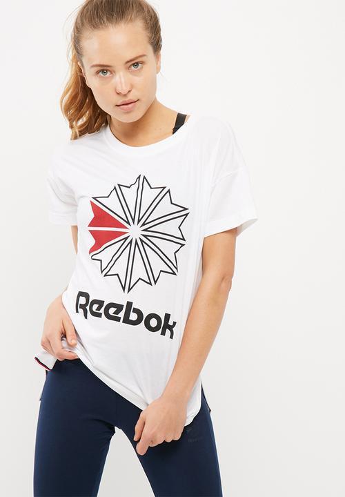 d0f855b2e5b Foundation tee- white Reebok Classic T-Shirts