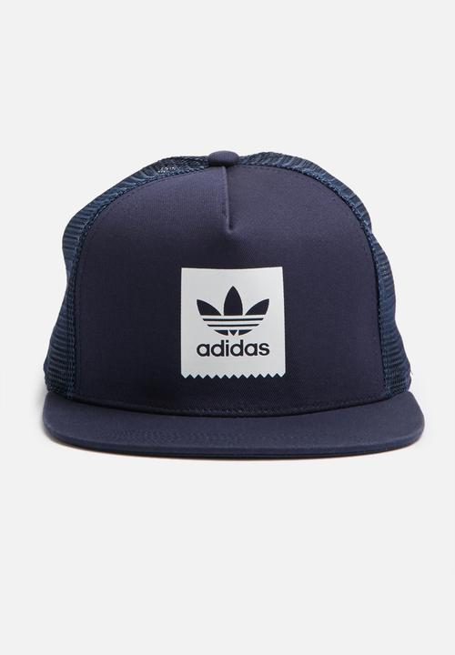 BB trucker hat - collegiate navy adidas Originals Headwear ... 5575aee63a8