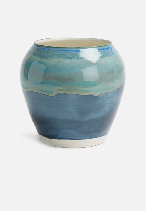 Urchin Art Azure Rose Vase Accessories Stoneware