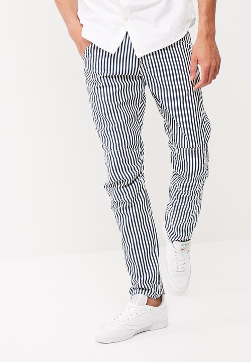 a9955fec788 5622 3D Tapered coj-hickory stripe G-Star RAW Pants & Chinos ...