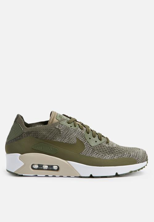 3b8104b3e9 Nike Air Max 90 Ultra 2.0 Flyknit Shoe 875943-200 - Medium Olive ...