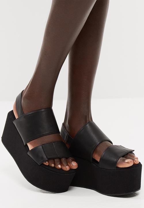 edd9b9084ce Pixie platform sandal - black Public Desire Sandals   Flip Flops ...
