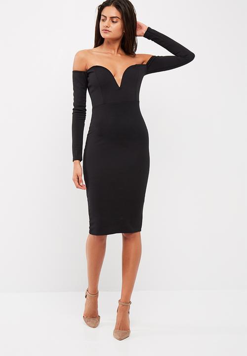 33926c803326 Bardot v bar bodycon dress - black Missguided Occasion | Superbalist.com