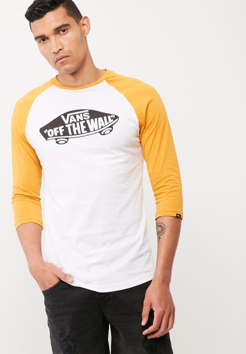 8b813b12c3 OTW raglan - white mineral yellow Vans T-Shirts   Vests ...