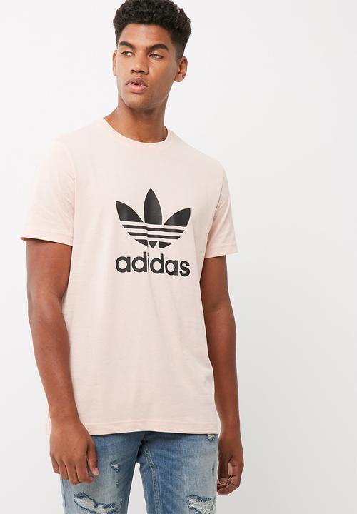 Mens originals trefoil tee - vapour pink adidas Originals T-Shirts ... 4cd1bc8ba217