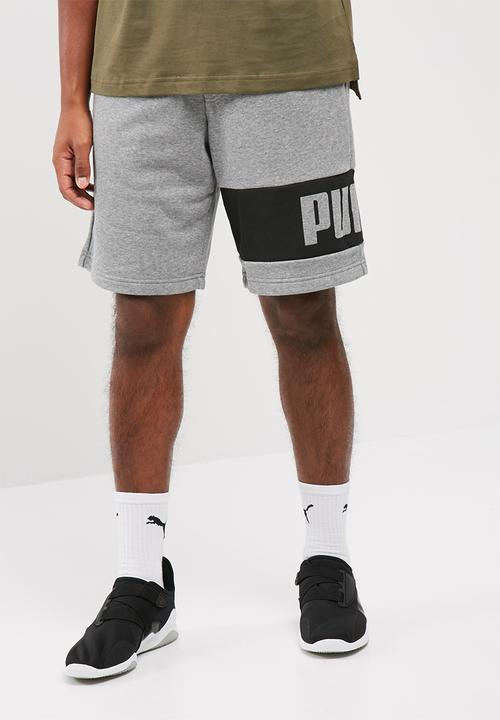 aa32d4acdece PUMA Rebel sweat shorts - medium gray heather PUMA Sweatpants ...
