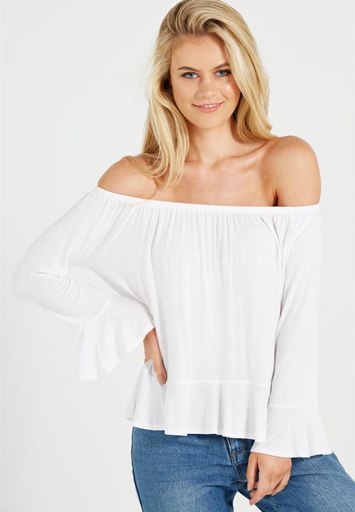 cf73c9a4e Pegi off the shoulder top - white Cotton On Blouses | Superbalist.com