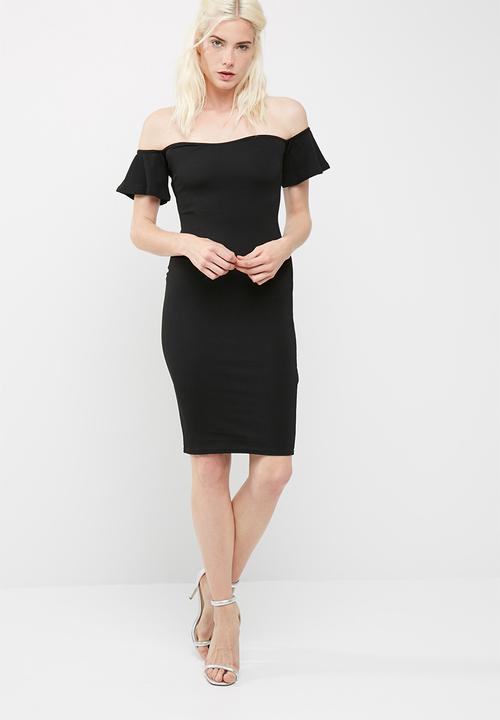 bc28f0028308 Bardot bodycon midi dress - black Missguided Formal | Superbalist.com