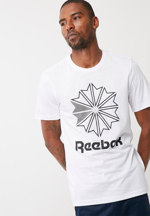 bdb0b0342a5 Mens starcrest gr tee-white black mgh solid grey Reebok Classic T ...