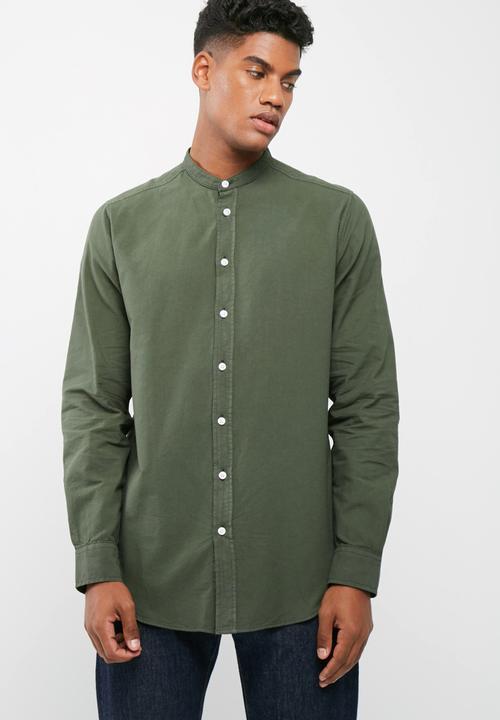 36ac77565a2 Regular fit mandarin oxford shirt basicthread Shirts