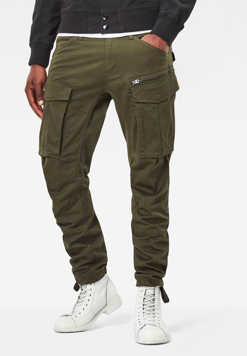 29ff3c8438e47 Rovic zip 3D tapered- dk bronze green G-Star RAW Pants   Chinos ...
