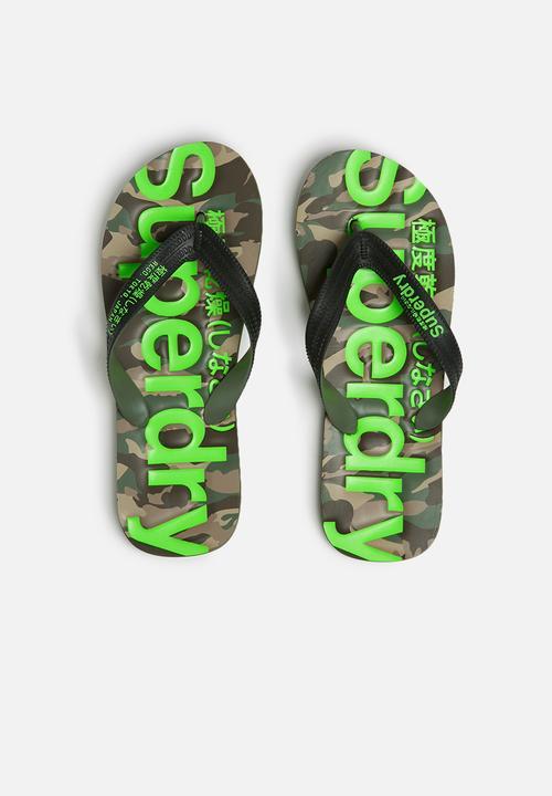d4a2e5da5f366b Classic camo flip flop - black khaki fluro lime Superdry. Sandals ...