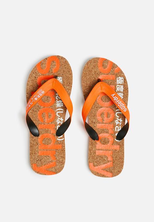 8bd9257146f Cork colour pop flip flop - fluro orange   optic Superdry. Sandals ...
