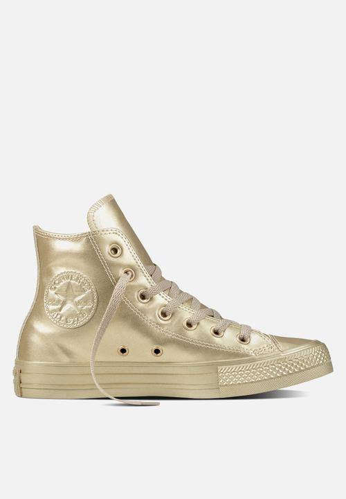 eb9ed0c7eafbbb Chuck Taylor All Star Hi metallic leather - light gold Converse ...