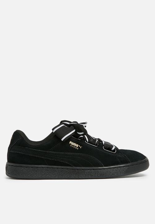 c6c5dac6a91 Puma Suede Heart Satin II - 364084 01 - Black PUMA Sneakers ...