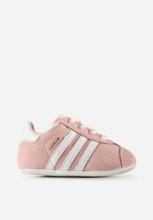 Infants Gazelle - ice pink white gold baby adidas Originals Shoes ... c5ffbc002