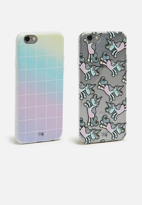 check out 8a150 89589 Rainbows & unicorns set - iPhone & Samsung cover