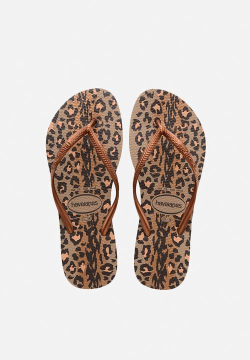 385f8f4a61f5e7 Slim animals - Rose Gold Dark Copper Havaianas Sandals   Flip Flops ...