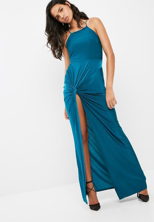 c342eb41dd Blue slinky maxi dress - teal Missguided Occasion | Superbalist.com