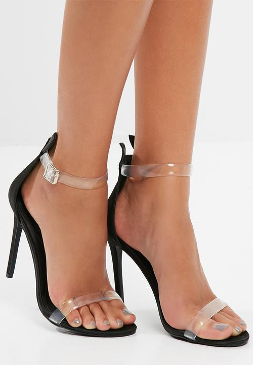 943f2f30350a Bunny ear strappy sandals - black Missguided Heels