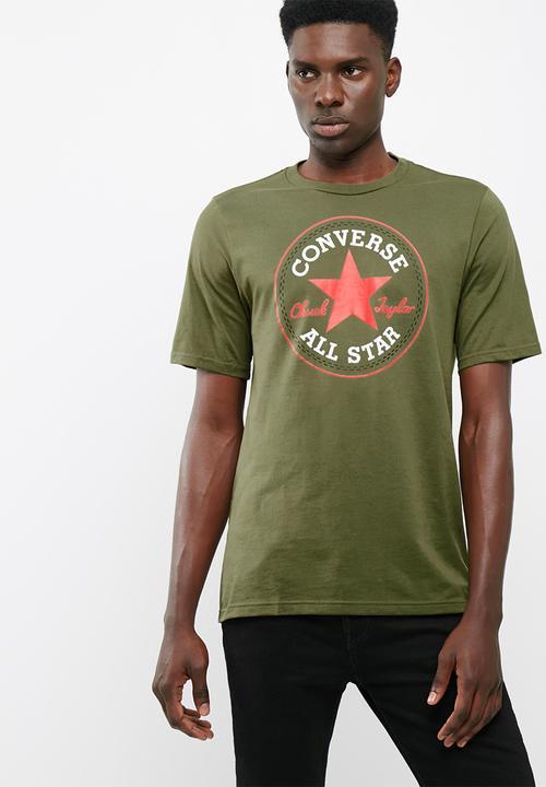 c3a9d150d272 Core chuck patch tee  medium olive Converse T-Shirts   Vests ...