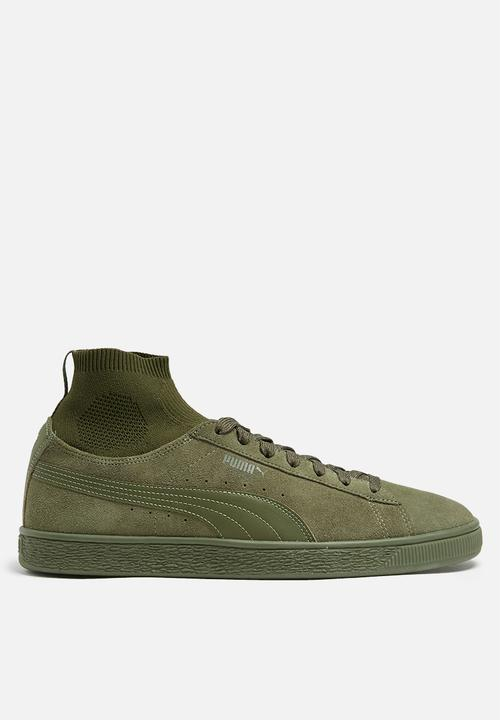 186eba46bb144e Puma Suede Classic Sock - 36407403 - Olive PUMA Sneakers ...