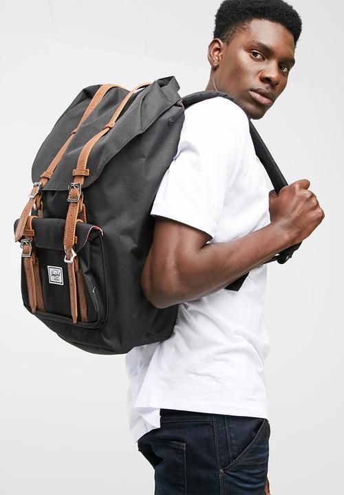 062bec16343 Little america backpack-black tan Herschel Supply Co. Bags   Wallets ...