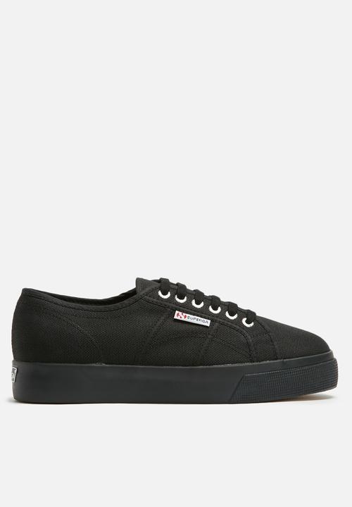bb74c6296a6 Superga 2730 Cotu Canvas Mid Wedge - Full Black SUPERGA Sneakers ...