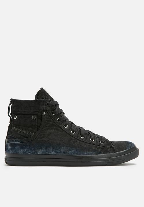 398f3f3a0c4 Diesel magnete exposure 1- Indigo / black treated Diesel Sneakers ...