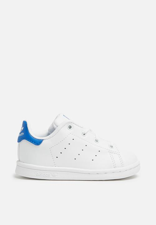 522049511216 Stan smith - white white blue kids adidas Originals Shoes ...