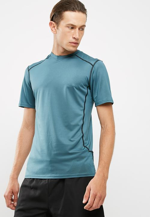 4d6008ee55ae9 Active stretch SS tee - dark blue New Look T-Shirts
