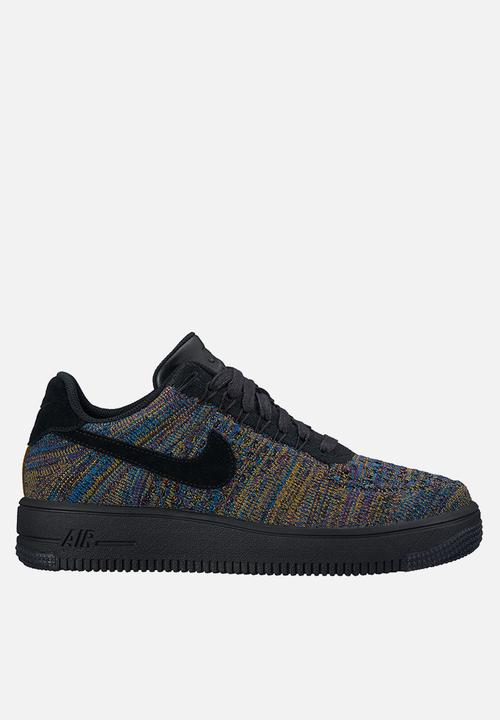 16cb25805bf1f Nike Air Force 1 Flyknit Low - 820256-009 - Black   Multi Nike ...