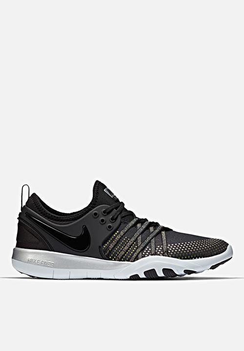 5b8b273dcf33f Women s Nike Free TR 7 Metallic Training - 922844-001 - Black   Pure ...