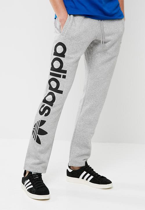 Trefoil track pants - grey adidas Originals Sweatpants   Shorts ... b6116be966