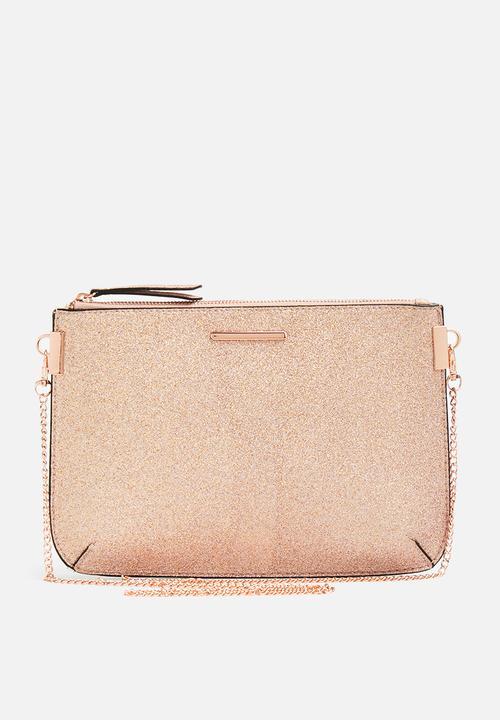 Glitter curve flt clutch - gold New Look Bags   Purses  f398b10b0615