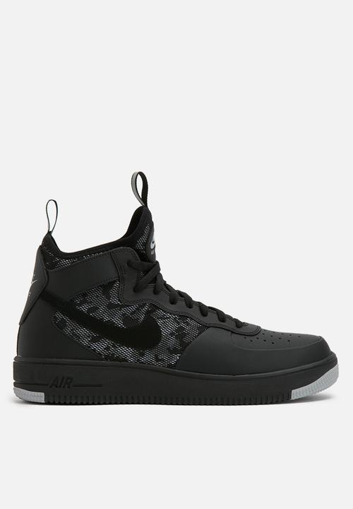 Nike Air Force 1 Ultraforce Mid-864014-004-Black Black-Wolf Grey ... 8b9e8bf16