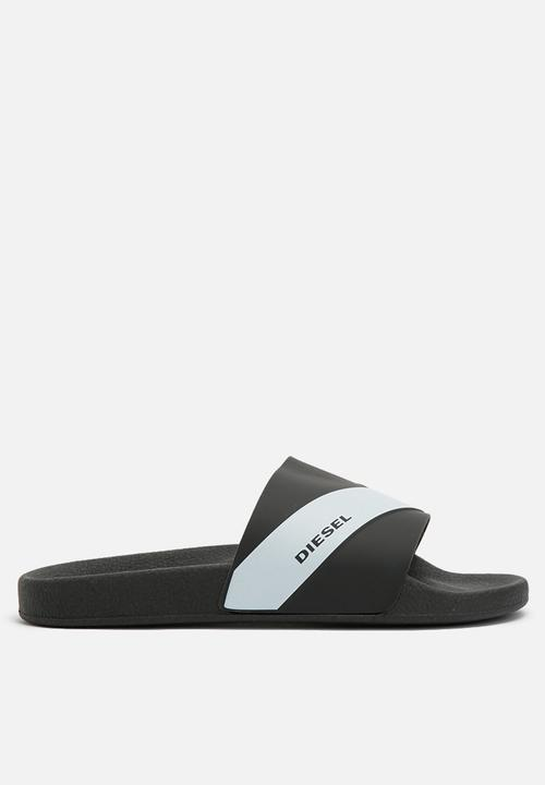 c3dfe47a52e3 Diesel S-Maral slide - black Diesel Sandals   Flip Flops ...